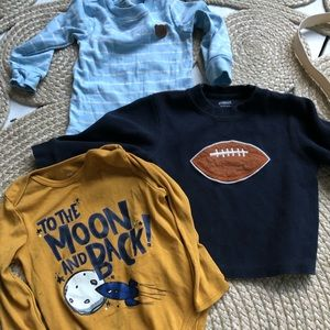 Baby Boy 18M bundle / lot onzie and long sleeve
